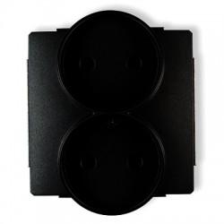 Mechanizm gniazda podwójnego do ramki bez uziemienia 2x2P