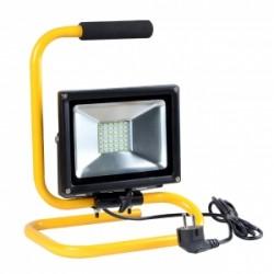 Lampa przenoś.zew.LED ART,20W,SMD,IP65, AC230V,W+stojak+przewód2m+wtyczka