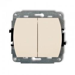 1WP-2L, Łącznik dwubiegunowy podświetlany,