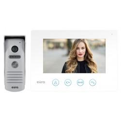 WIDEODOMOFON ''EURA'' VDP-40A3 ''FENIKS'' BIAŁY ekran 7'', monitor z WiFi, otwieranie 2 wejść, aplikacja Eura Connect