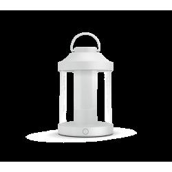 Abelia Biała Lampa Biurkowa