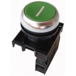 M22-D-G-X1/K10 Napęd przycisku bez samopowrotu,płaski,zielony,1Z