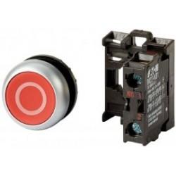 M22-D-R-X0/K01 Napęd przycisku bez samopowrotu,płaski,czerwony,1R