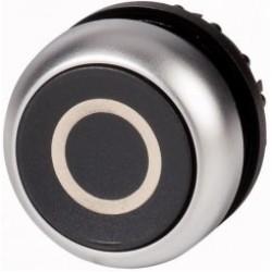 M22-D-S-X0 Napęd przycisku z samopowrotem płaski,czarny
