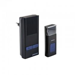 Dzwonek bezprzewodowy ROCK AC, 230V z learning system, czarny