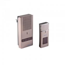 Dzwonek bezprzewodowy ROCK AC, 230V z learning system, szampan