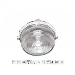 Oprawa oświetleniowa BURSTER szara, E27, szkło przeźroczyste