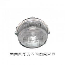 Oprawa oświetleniowa BURSTER, szara, E27, szkło przeźr. osł. stalowa