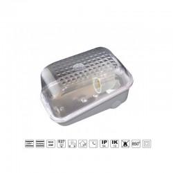 Oprawa oświetleniowa KARIF szara, E27, poliwęglan, przeźroczysty