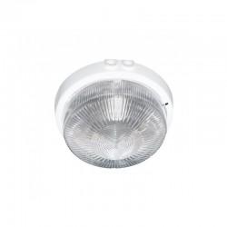 Oprawa oświetleniowa AUTAN. biała. E27. szkło przeźroczyste