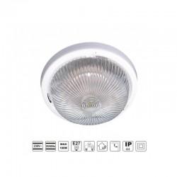 Oprawa oświetleniowa FEN, biała, E27, szkło przeźroczyste