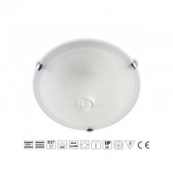 Plafon TIVANO biała. E27. szkło matowe. czujnik ruchu