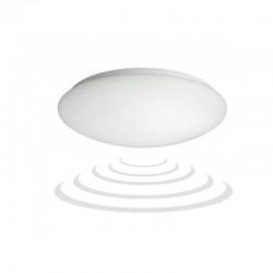 Plafon MARIN biały. szkło matowe. czujnik mikrofalowy