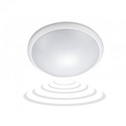 Plafon BREVA biały, poliwęglan mleczny, czujnik mikrofalowy