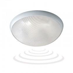 Plafon HELM LED z czujnikiem mikrofalowym 12W, 24 SMD5730, 1150lm, 4000K, IP44, klosz poliwęglan przeźroczysty