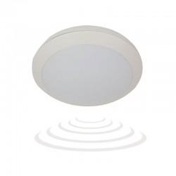 Plafon BRYZA ECO LED z czujnikiem mikrofalowym, 60 SMD2835, biały, IP66, 25000h, poliwęglan mleczny