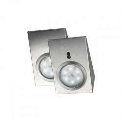 Zestaw opraw meblowych LED z bezdotykowym wyłącznikiem Srebrne