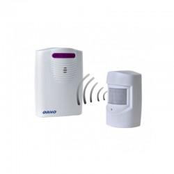 Czujnik ruchu z sygnalizacją - bezprzewodowy, IP44, 120m