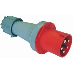 Wtyczka przenośna 63A 4P 400V czerwona IP67