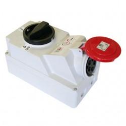 Zestaw instalacyjny z gniazdem 16A 5P (0-1) czerwony
