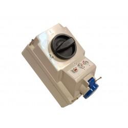 Gniazdo stałe z wyłącznikiem 0-1 duże 32A 3P 230V IP44 /blokada mechaniczna