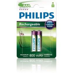Philips baterie AAA 2ks 800mAh Rechargeables (R03B2A80/10) 1 szt.