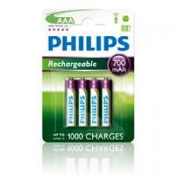 Bateria HR03 700mAh AAA akumulatorek 1,2V (1szt.) R03B4A70/10 Philips