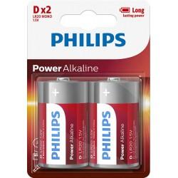 BATERIA POWER ALKALINE LR20 B2 LR20P2B/10 PHILIPS   1szt.