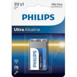 BATERIA ULTRA ALKALINE 6LR61 9V 6LR61E1B/10 PHILIPS 1 szt.