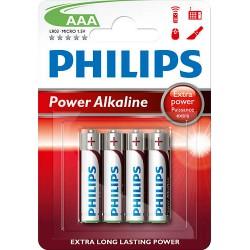 BATERIA POWER ALKALINE LR03 B4 LR03P4B/10 PHILIPS  1 szt/