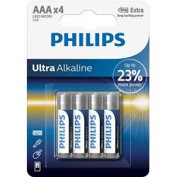 BATERIA ULTRA ALKALINE LR03 B4 LR03E4B/10 PHILIPS 1 szt/