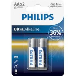 BATERIA ULTRA ALKALINE LR06 B2 LR6E2B/10 PHILIPS   1 szt.