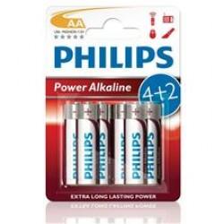 BATERIA POWER ALKALINE LR06 B6 LR6P6BP/10 PHILIPS   1 szt.