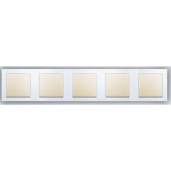 Ramka 5-krotna biały