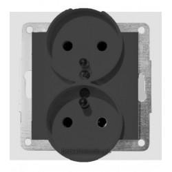 Gniazdo 2-kr z uz. do ramek 1- lub wielokr., 16 A, 250 V~, ant