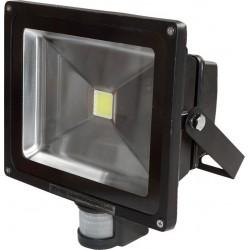 Naświetlacz LED z czujnikiem PIR 30W 6000K czarny
