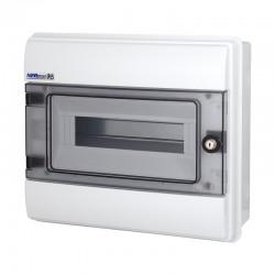 Rozdzielnica Hermetyczna RHp-12/Z (z zamkiem, drzwi transparentne PC), IP65