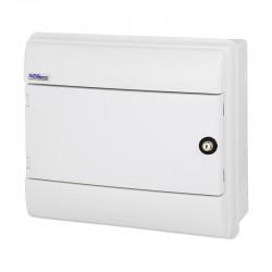 Rozdzielnica Hermetyczna RHp-12/ZB (z zamkiem, drzwi białe ABS), IP65