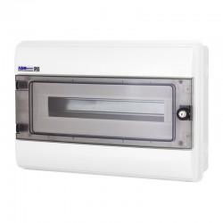 Rozdzielnica Hermetyczna RHp-18/Z (z zamkiem, drzwi transparentne PC), IP65