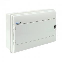Rozdzielnica Hermetyczna RHp-18/ZB (z zamkiem, drzwi białe ABS), IP65