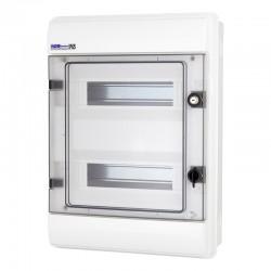 Rozdzielnica Hermetyczna RHp-24/Z (z zamkiem, drzwi transparentne PC), IP65