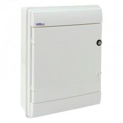 Rozdzielnica Hermetyczna RHp-24/ZB (z zamkiem, białe drzwi ABS), IP65