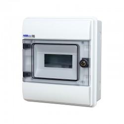 Rozdzielnica Hermetyczna RHp-8/Z (z zamkiem, drzwi transparentne PC), IP65