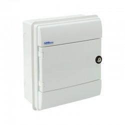 Rozdzielnica Hermetyczna RHp-8/ZB (z zamkiem, białe drzwi ABS), IP65