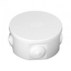 Puszka Instalacyjna PO-100, <br />Kolor: biały, z dławikami, IP44