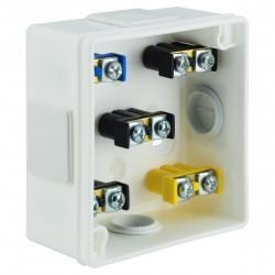 Puszka Instalacyjna VP-01 Z zaciskami 1-4 mm, Dekiel klik-klak, IP55