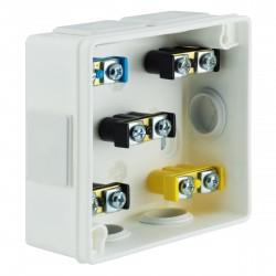 Puszka Instalacyjna VP-02 Z zaciskami 1-4 mm, Dekiel klik-klak, IP55