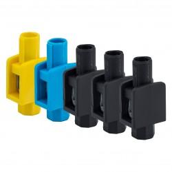 Zestaw Zacisków Pojedynczych, 3 <br />Kolory, 10x (1 x 1-4mm2), 400V