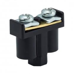 Zacisk Podwójny czarny 2 x 1-4mm2, 400V