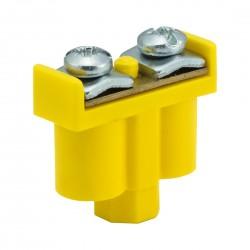 Zacisk Podwójny żółto-zielony 2 x 1-4mm2, 400V